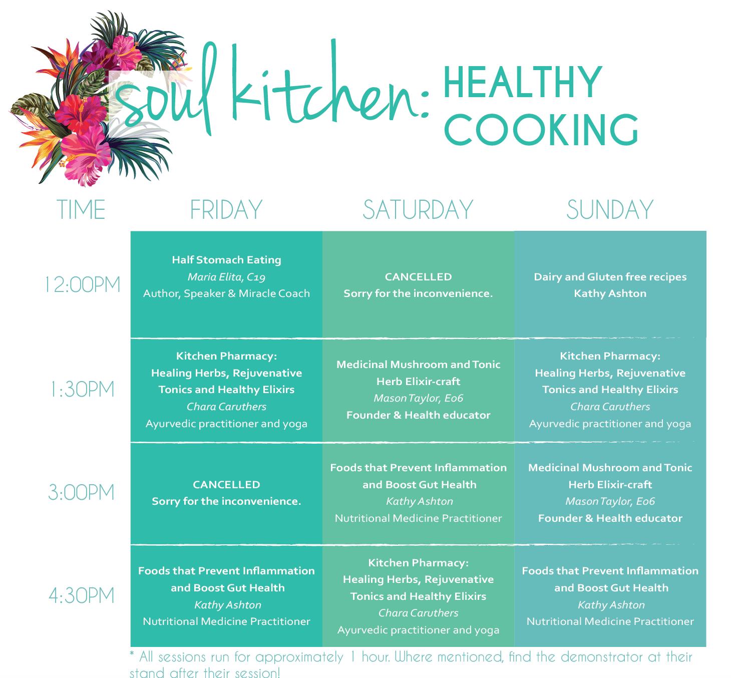 Brisbane Soul Kitchen Stage - Mind Body Spirit Festival
